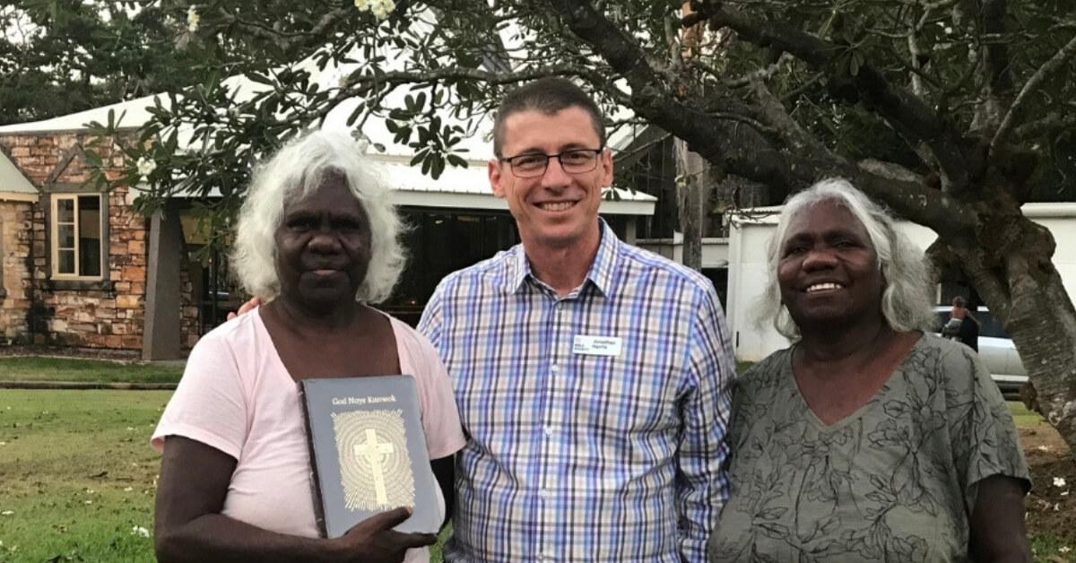 Rev Lois Nadjamerrek Jonathan and Hagar Nadjamerrek