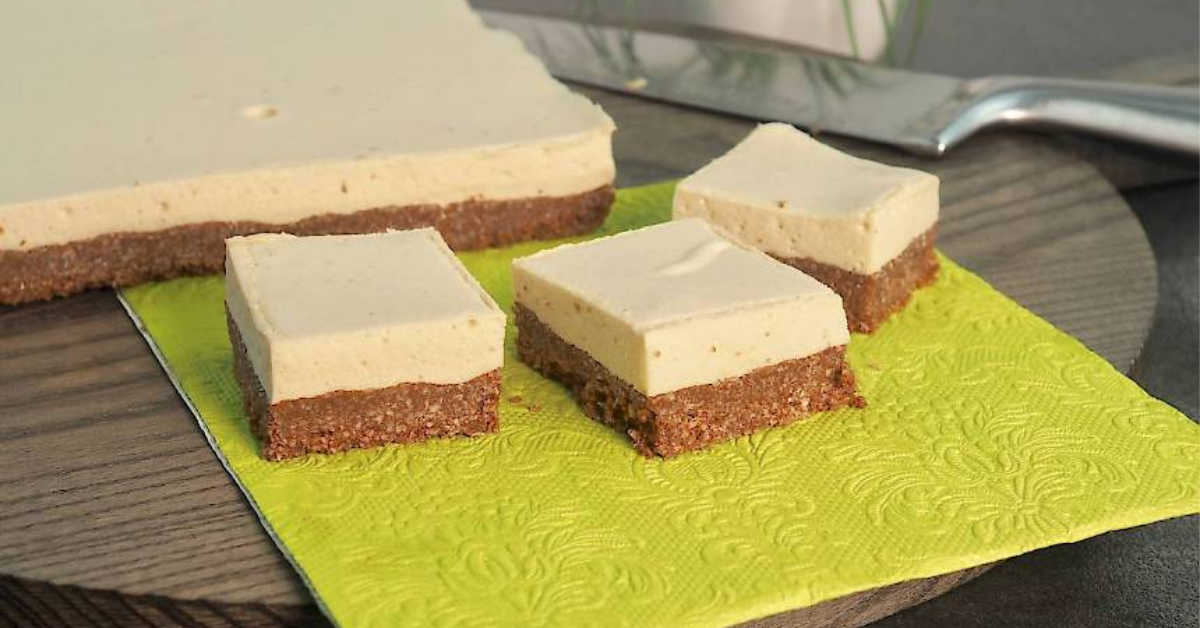 Chocolate Marshmallow Slice on green cloth