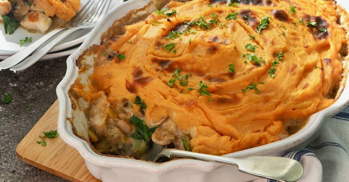 photo of susan joy's chicken and mushroom bake