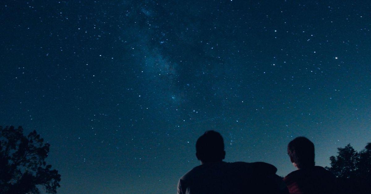 two boys stargazing