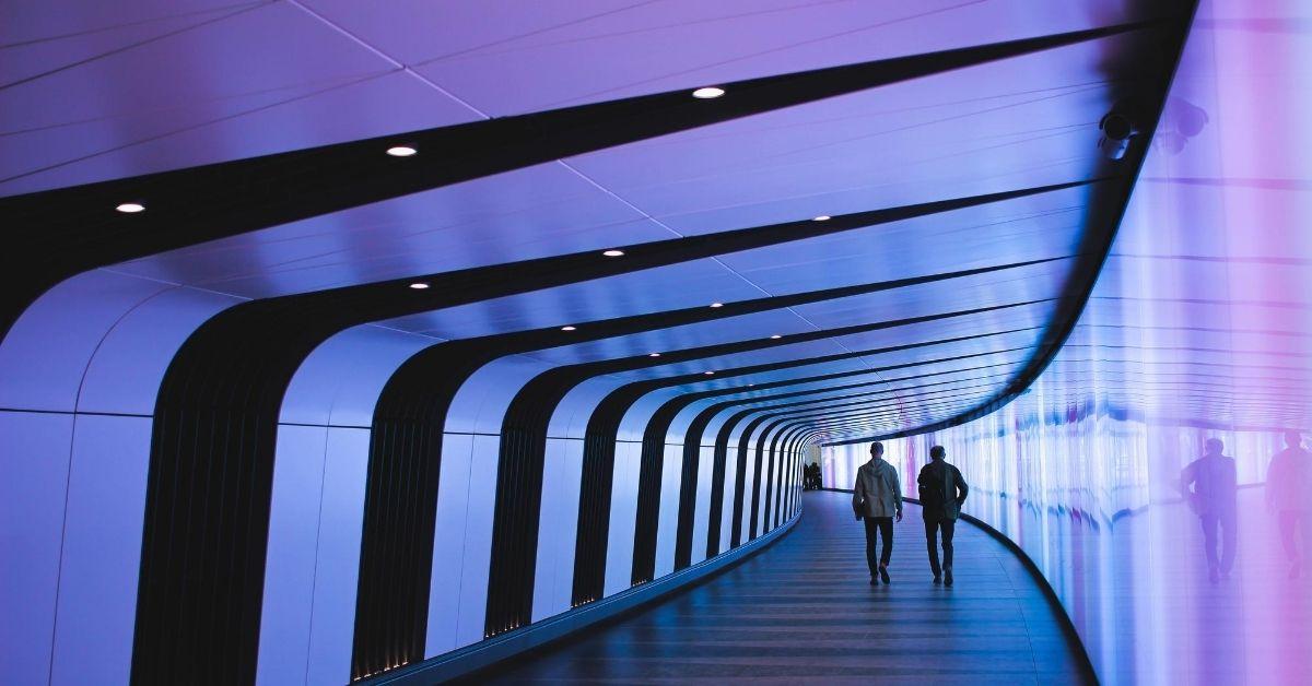 futuristic looking hallway