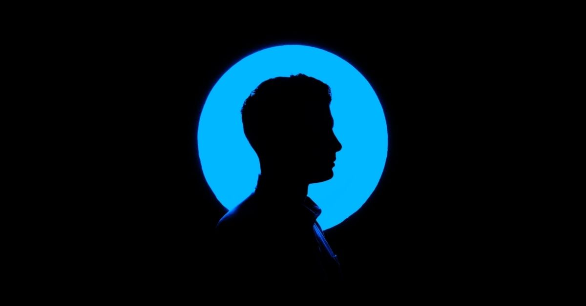 silhouette of a man's head
